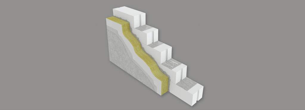 Passivhus - yttervägg från bauroc lättbetong block med låga U-värde